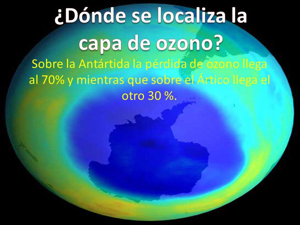 ¿Dónde se localiza la capa de ozono