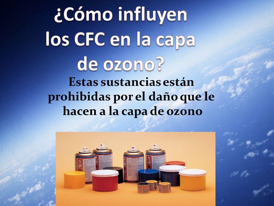 ¿Cómo influyen los CFC en la capa de ozono