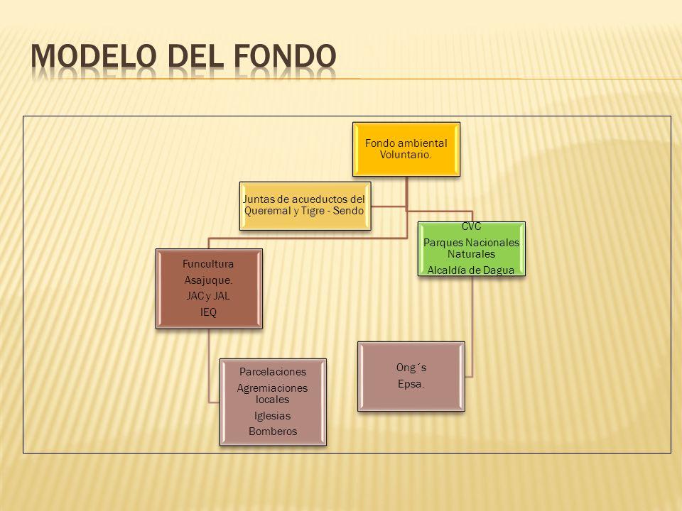Modelo del fondo Fondo ambiental Voluntario.