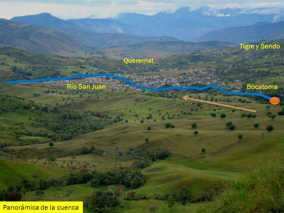 Tigre y Sendo Queremal Río San Juan Bocatoma Panorámica de la cuenca