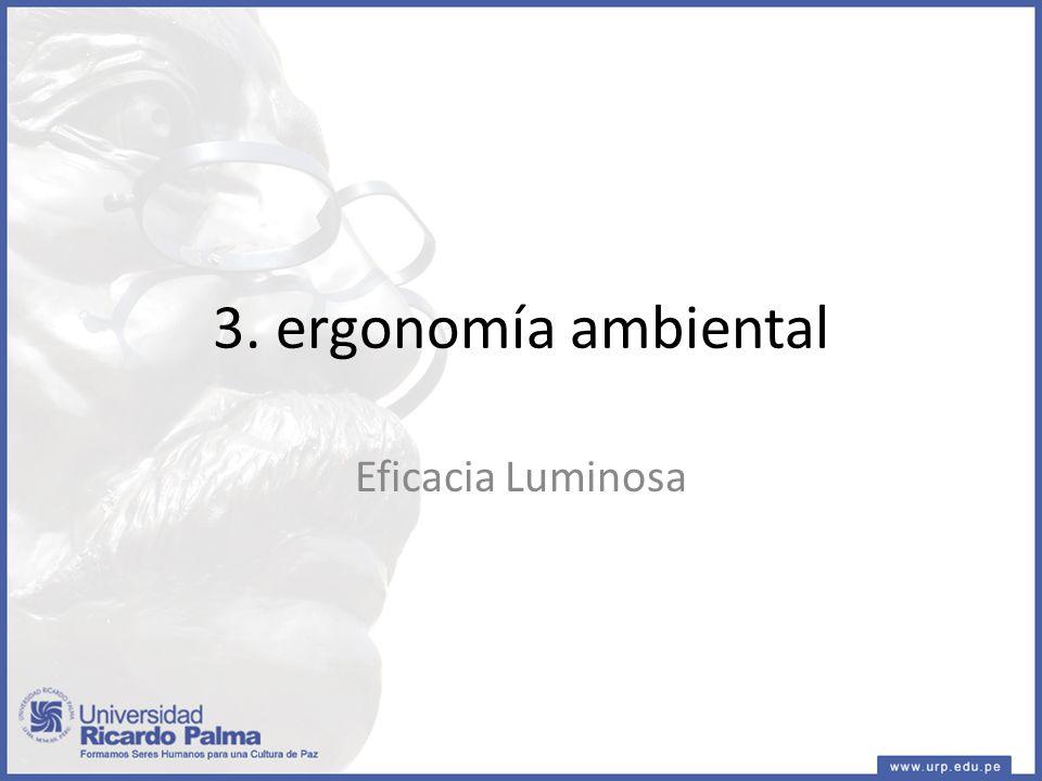 3. ergonomía ambiental Eficacia Luminosa