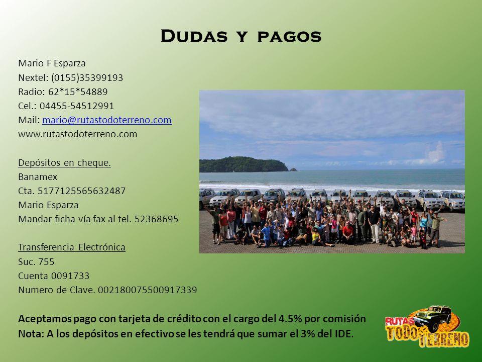 Dudas y pagos Mario F Esparza. Nextel: (0155)35399193. Radio: 62*15*54889. Cel.: 04455-54512991.