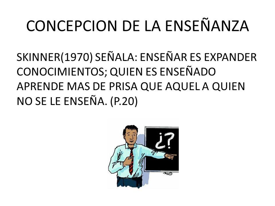 CONCEPCION DE LA ENSEÑANZA