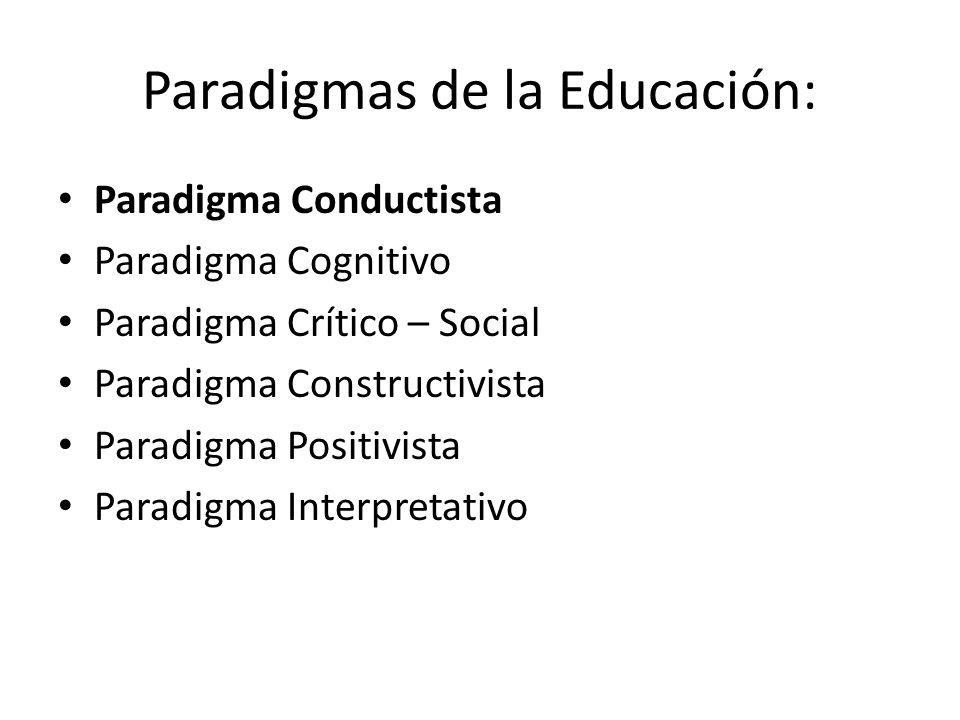 Paradigmas de la Educación:
