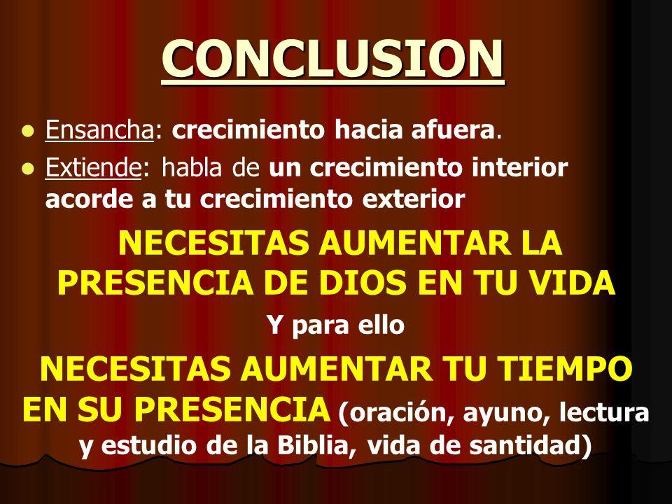 NECESITAS AUMENTAR LA PRESENCIA DE DIOS EN TU VIDA