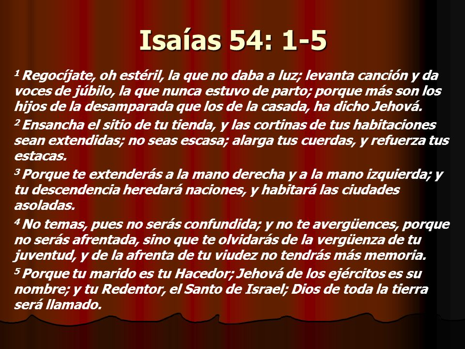 Isaías 54: 1-5
