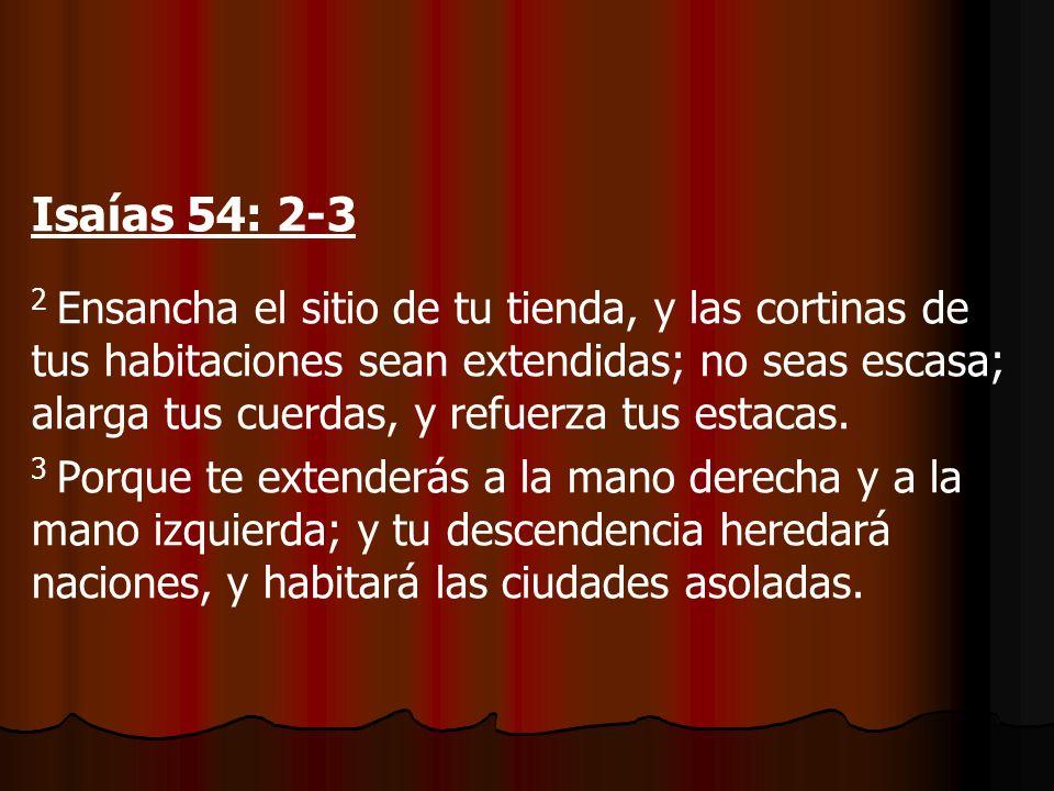 Isaías 54: 2-3