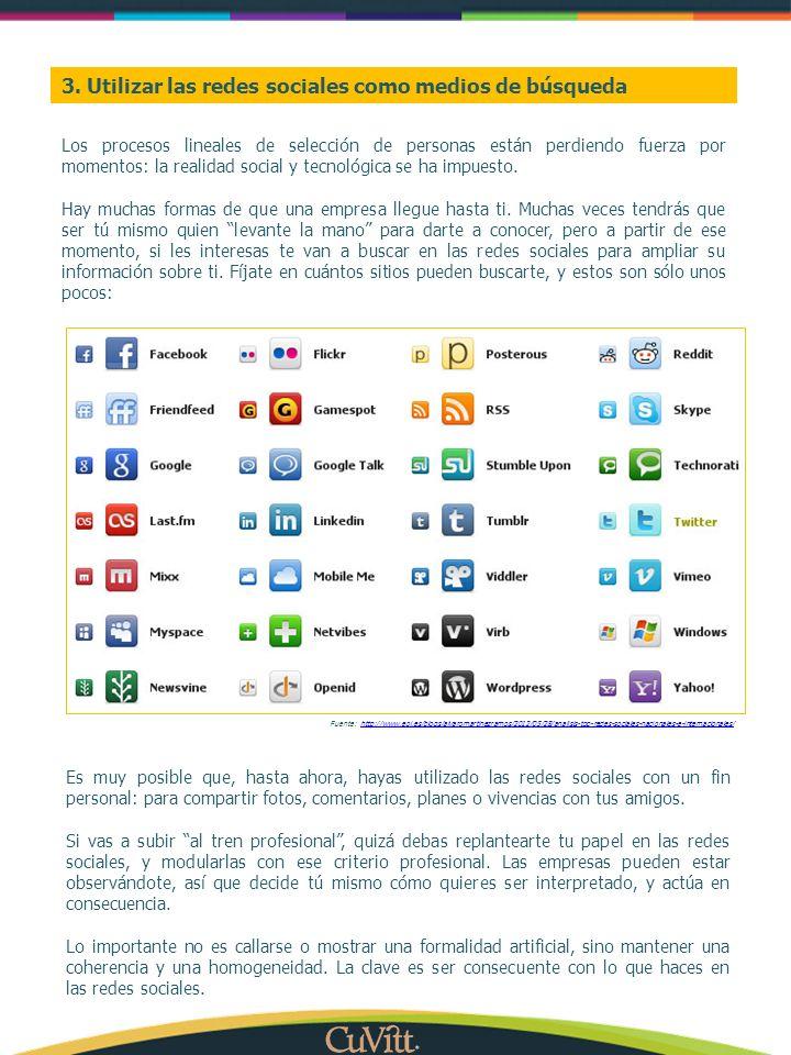 3. Utilizar las redes sociales como medios de búsqueda