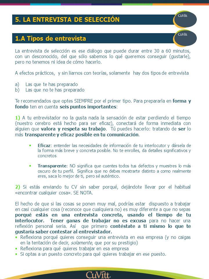 5. LA ENTREVISTA DE SELECCIÓN