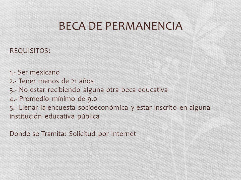 BECA DE PERMANENCIA