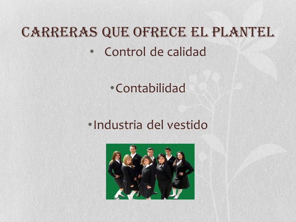 CARRERAS QUE OFRECE EL PLANTEL