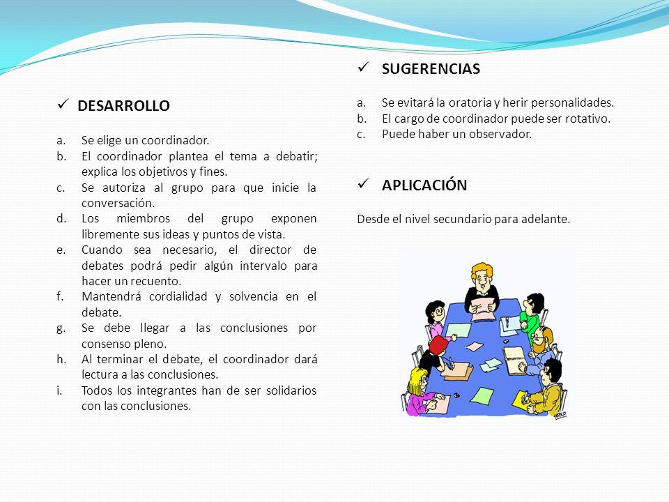 SUGERENCIAS DESARROLLO APLICACIÓN