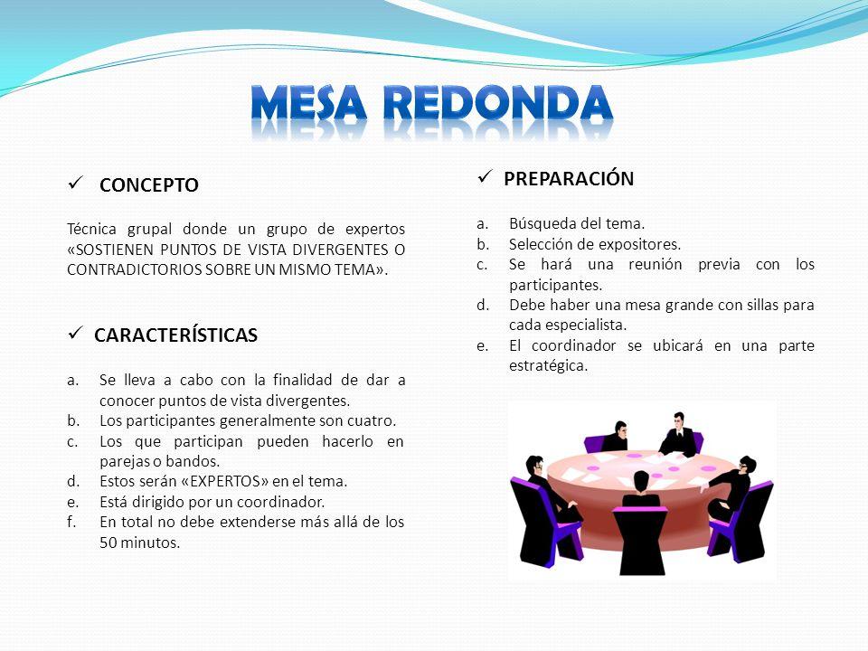 T cnicas grupales ppt video online descargar - Que es mesa redonda ...