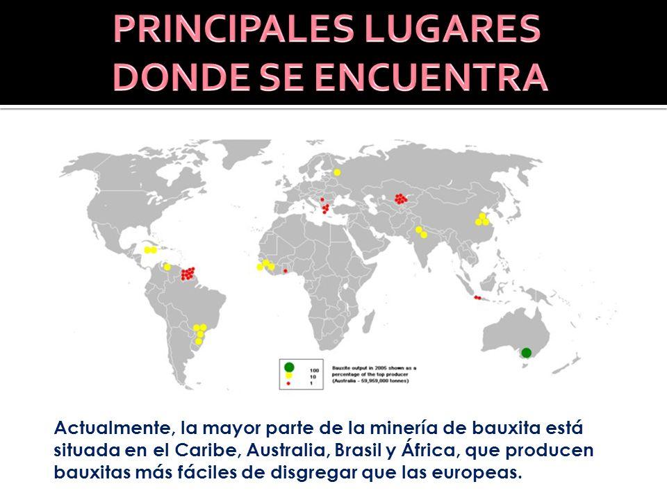 PRINCIPALES LUGARES DONDE SE ENCUENTRA