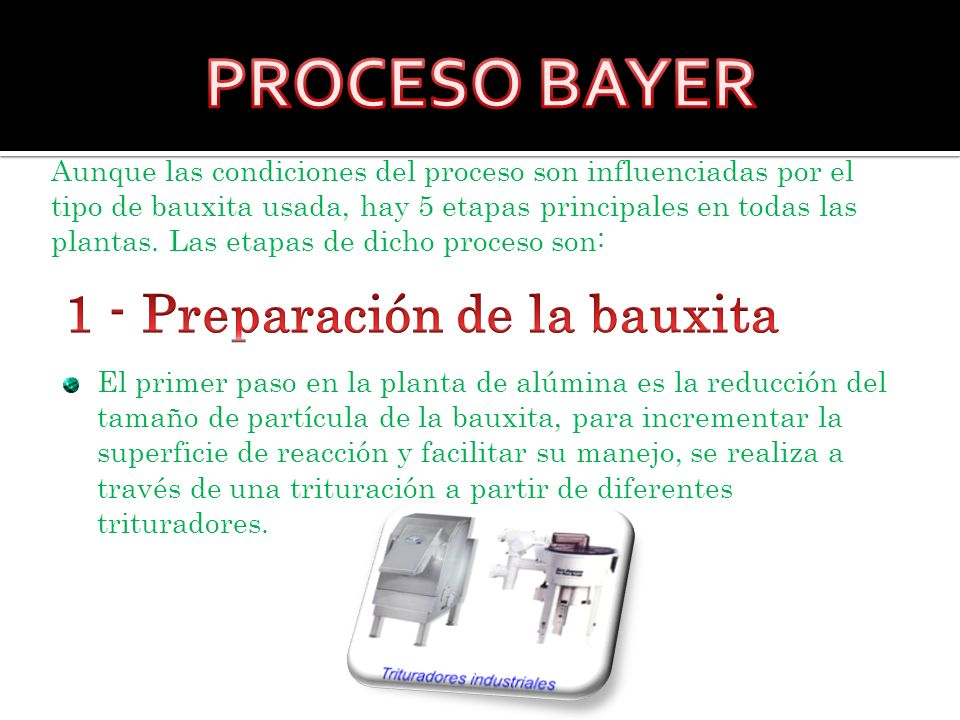 1 - Preparación de la bauxita