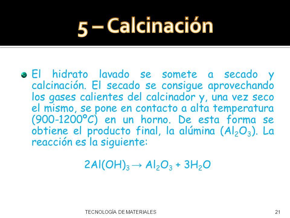5 – Calcinación