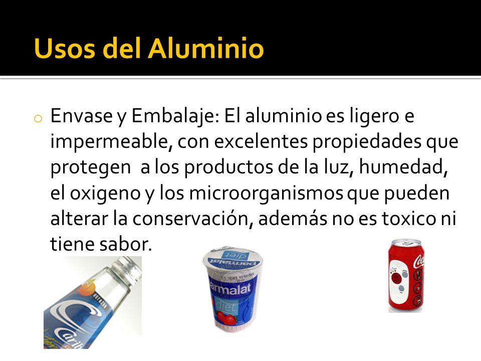 Usos del Aluminio