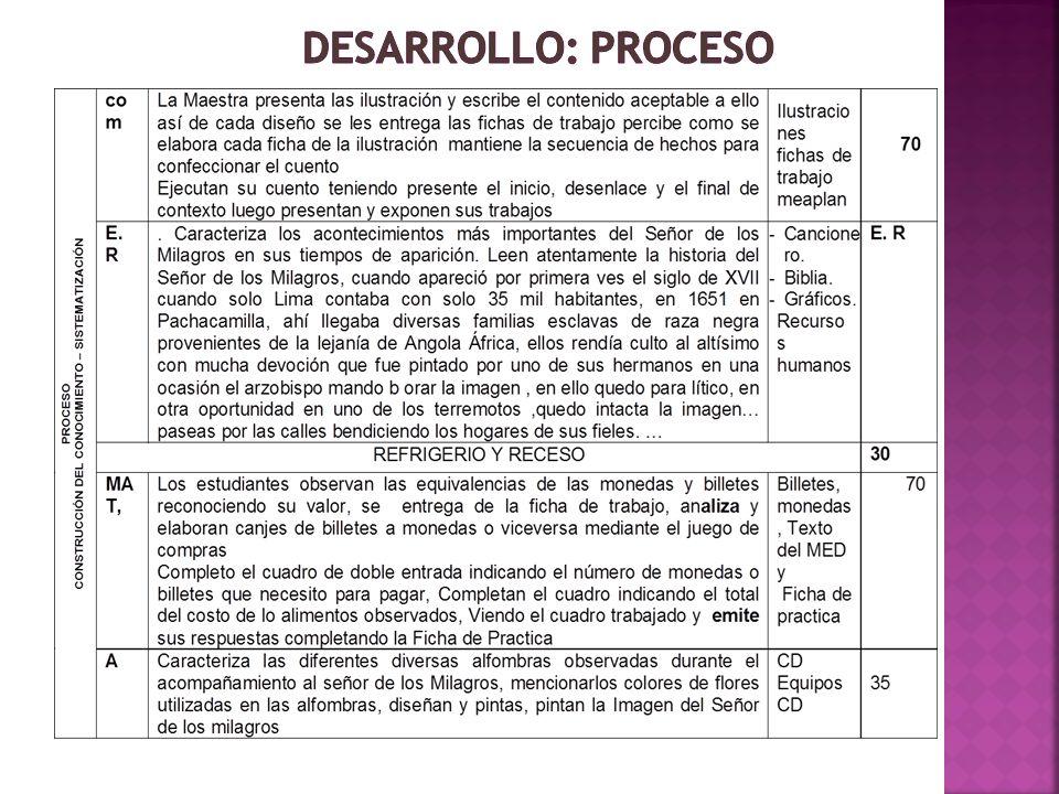 DESARROLLO: PROCESO