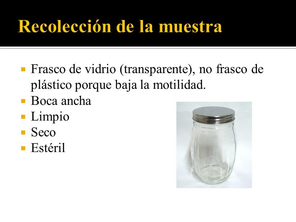 Recolección de la muestra
