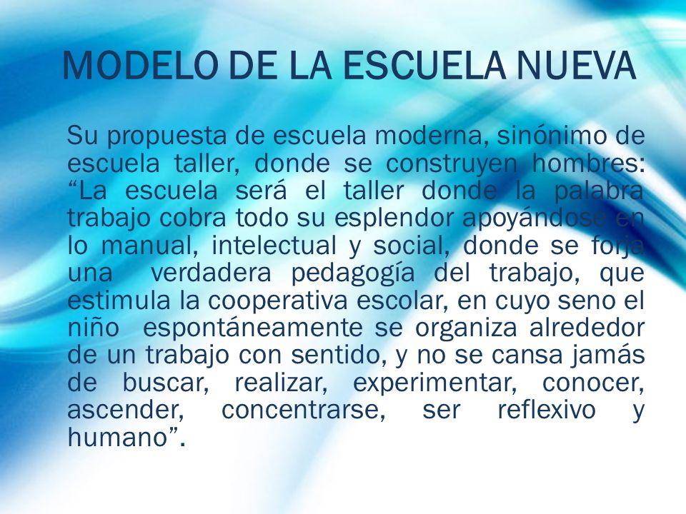 MODELO DE LA ESCUELA NUEVA