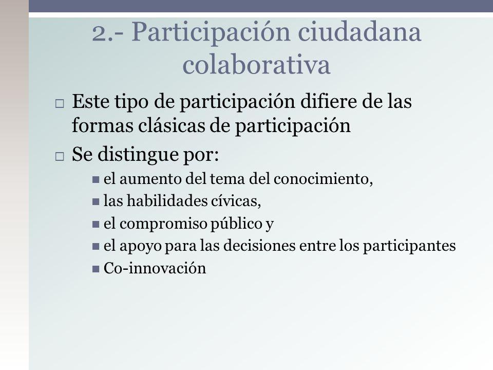 2.- Participación ciudadana colaborativa