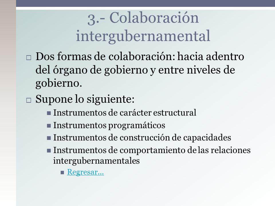 3.- Colaboración intergubernamental