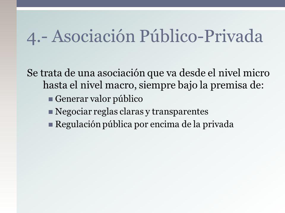 4.- Asociación Público-Privada