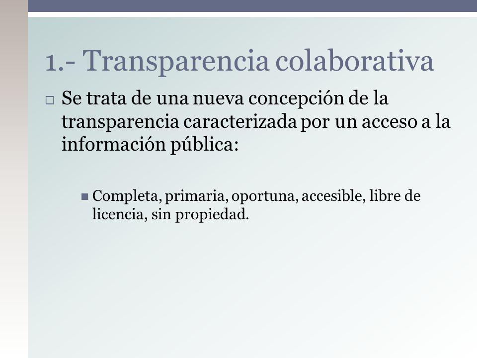 1.- Transparencia colaborativa