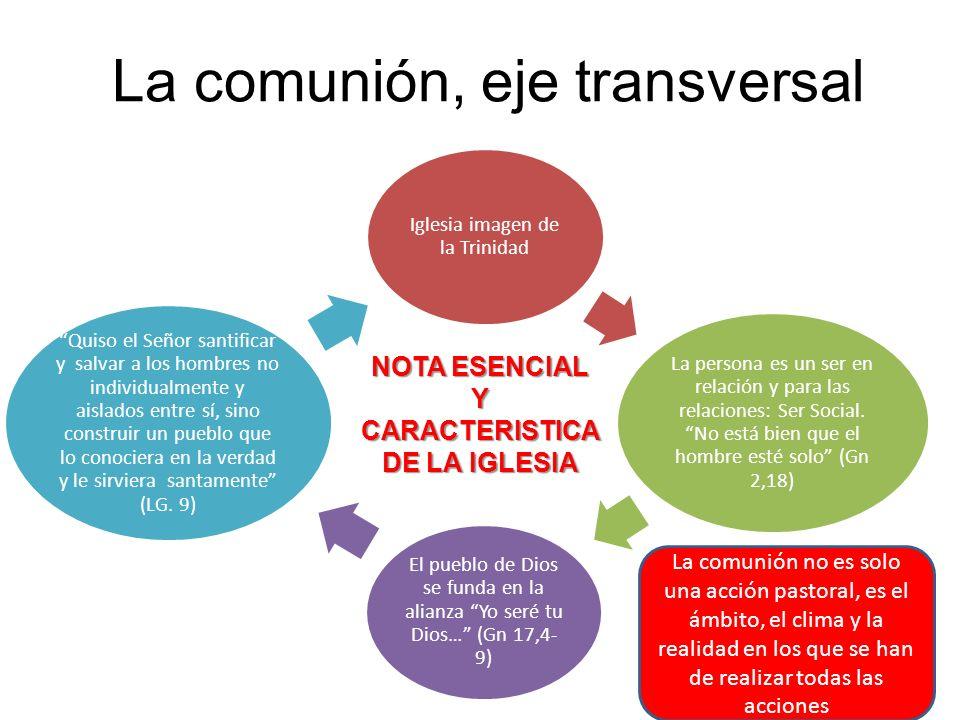 La comunión, eje transversal