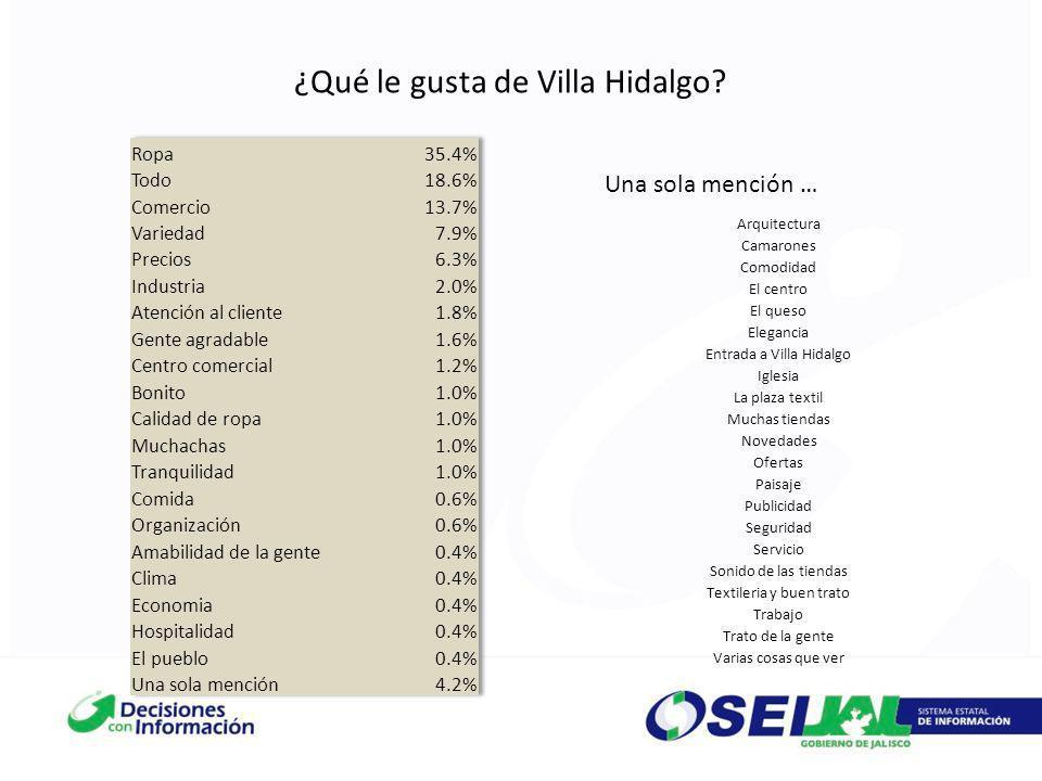 ¿Qué le gusta de Villa Hidalgo
