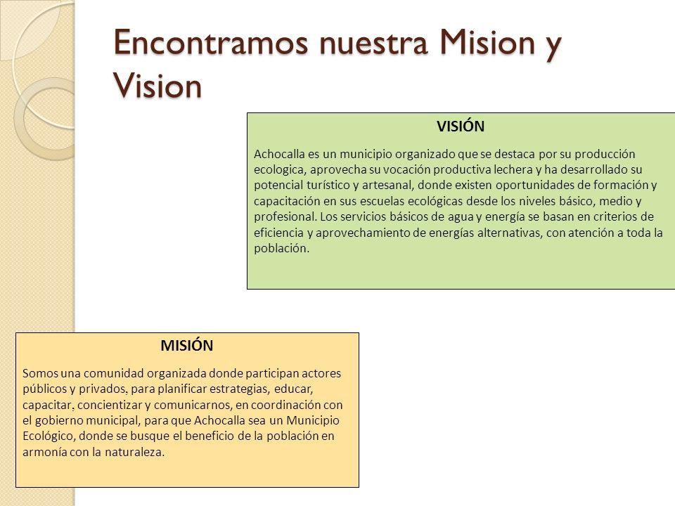 Encontramos nuestra Mision y Vision