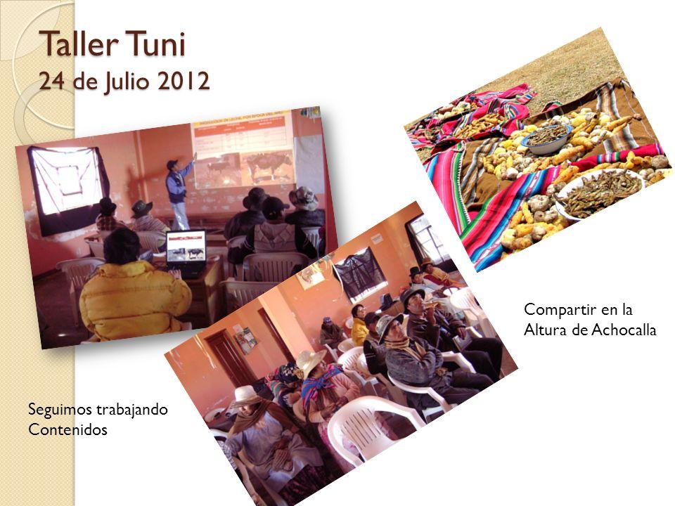 Taller Tuni 24 de Julio 2012 Compartir en la Altura de Achocalla