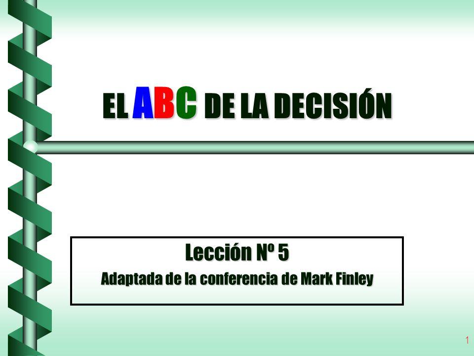 Lección Nº 5 Adaptada de la conferencia de Mark Finley