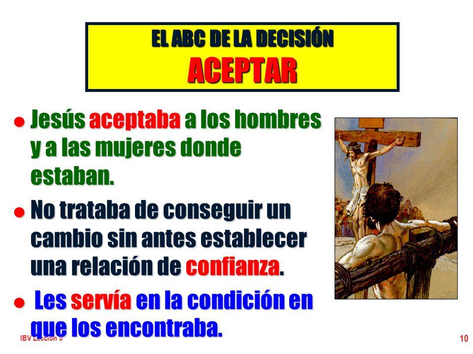 EL ABC DE LA DECISIÓN ACEPTAR