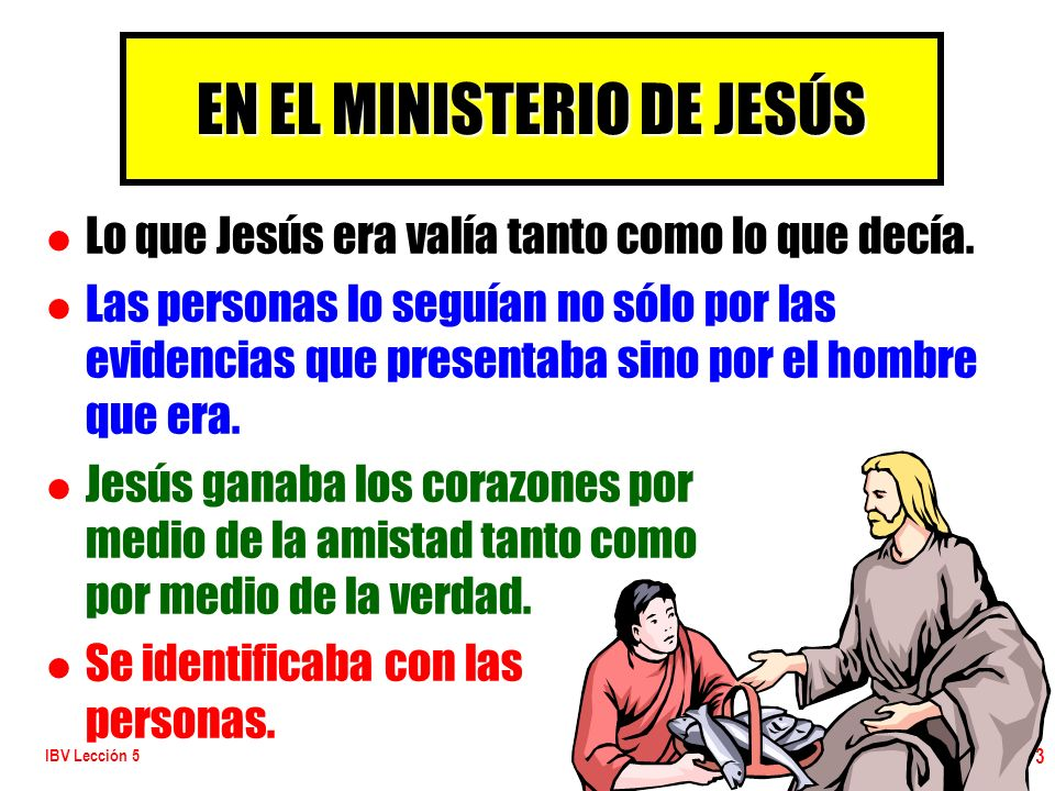 EN EL MINISTERIO DE JESÚS