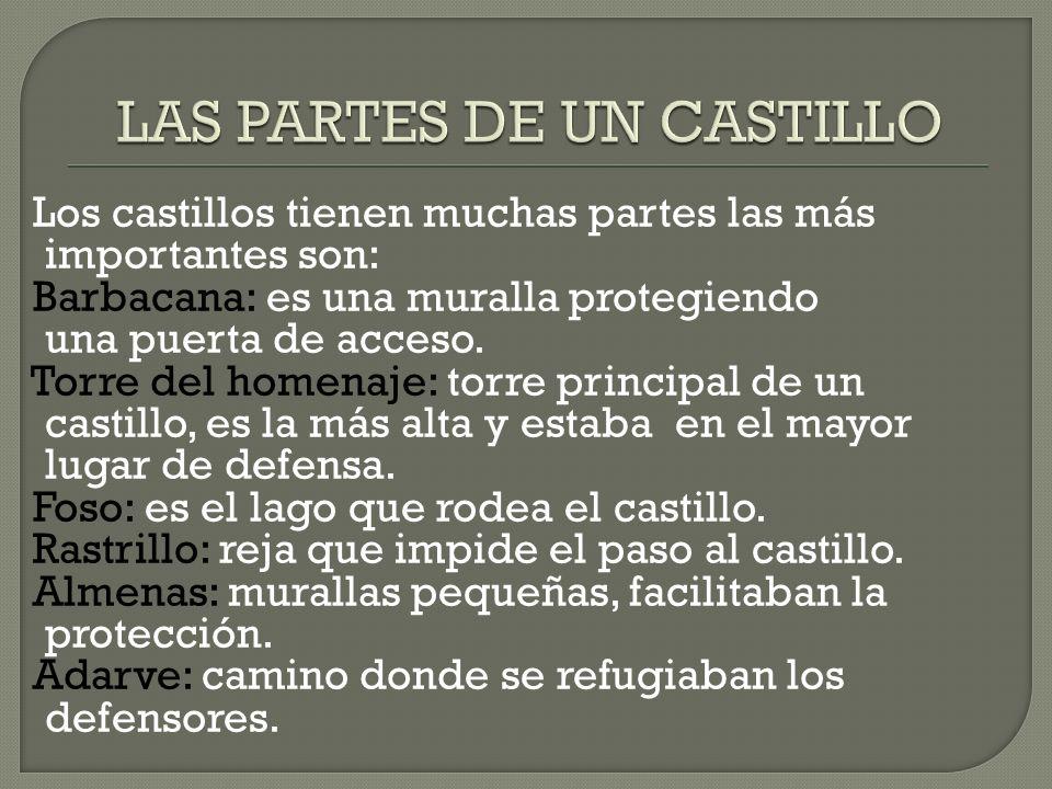 LAS PARTES DE UN CASTILLO