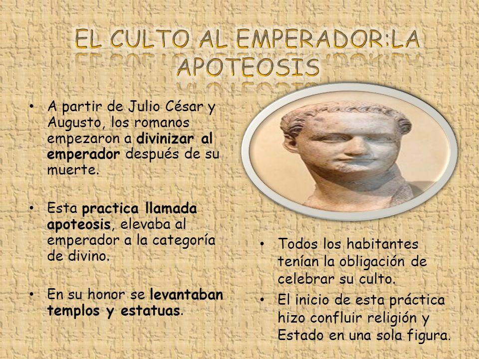 EL CULTO AL EMPERADOR:LA APOTEOSIS