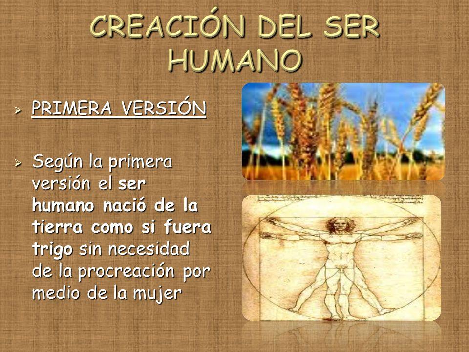 CREACIÓN DEL SER HUMANO