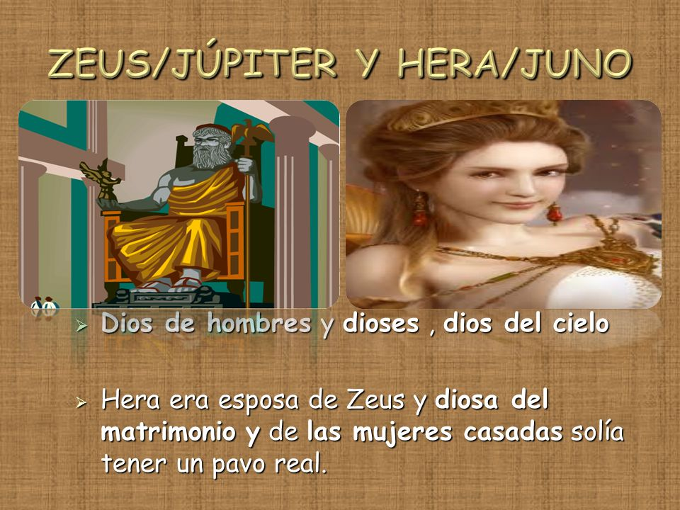 ZEUS/JÚPITER Y HERA/JUNO