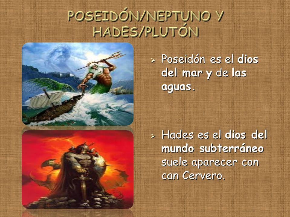 POSEIDÓN/NEPTUNO Y HADES/PLUTÓN
