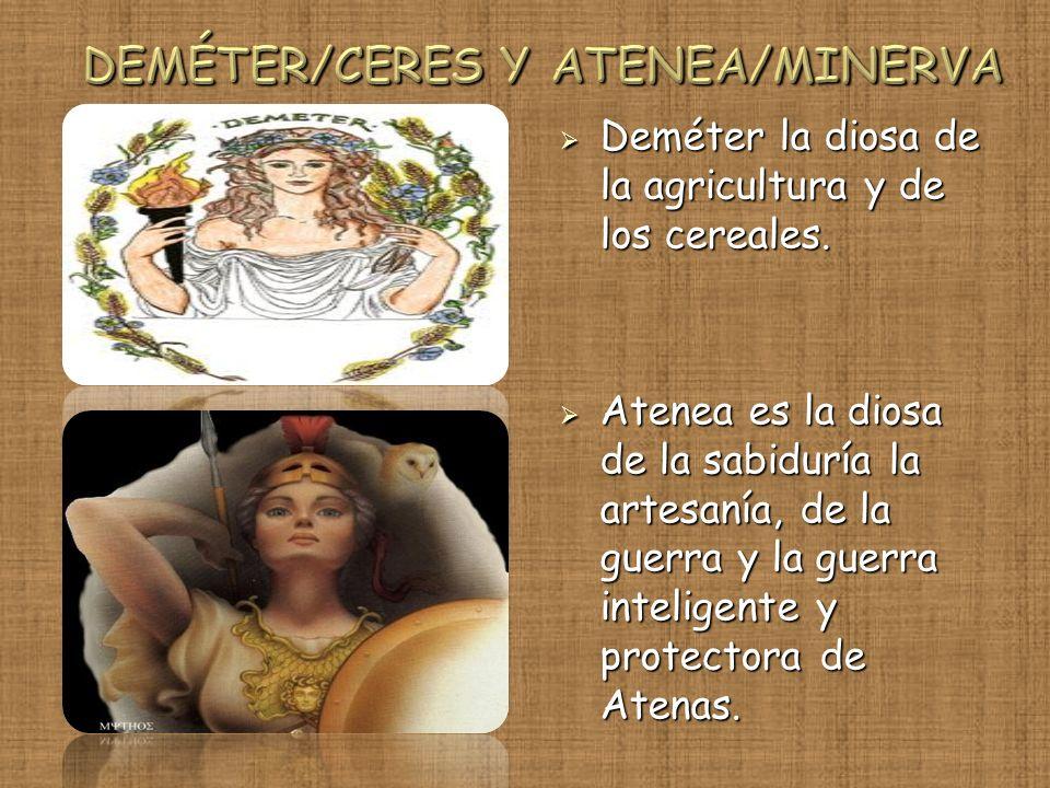 DEMÉTER/CERES Y ATENEA/MINERVA
