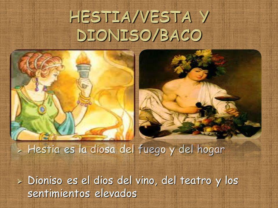 HESTIA/VESTA Y DIONISO/BACO