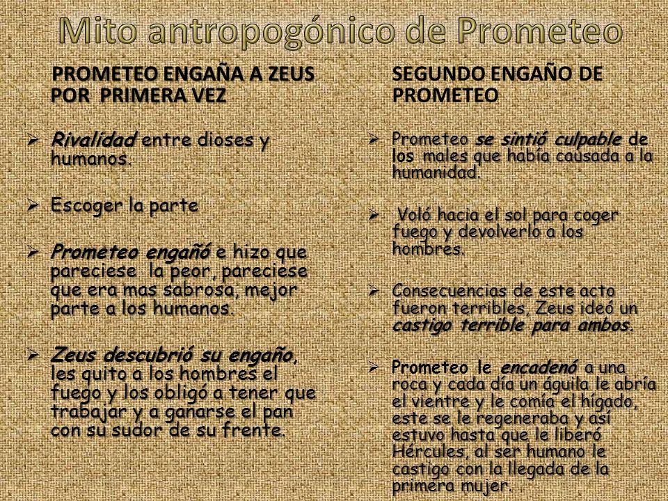 Mito antropogónico de Prometeo