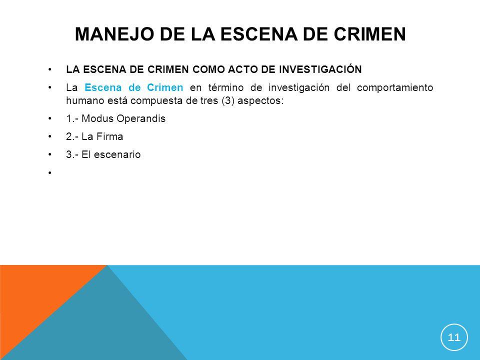 Manejo de la escena de crimen