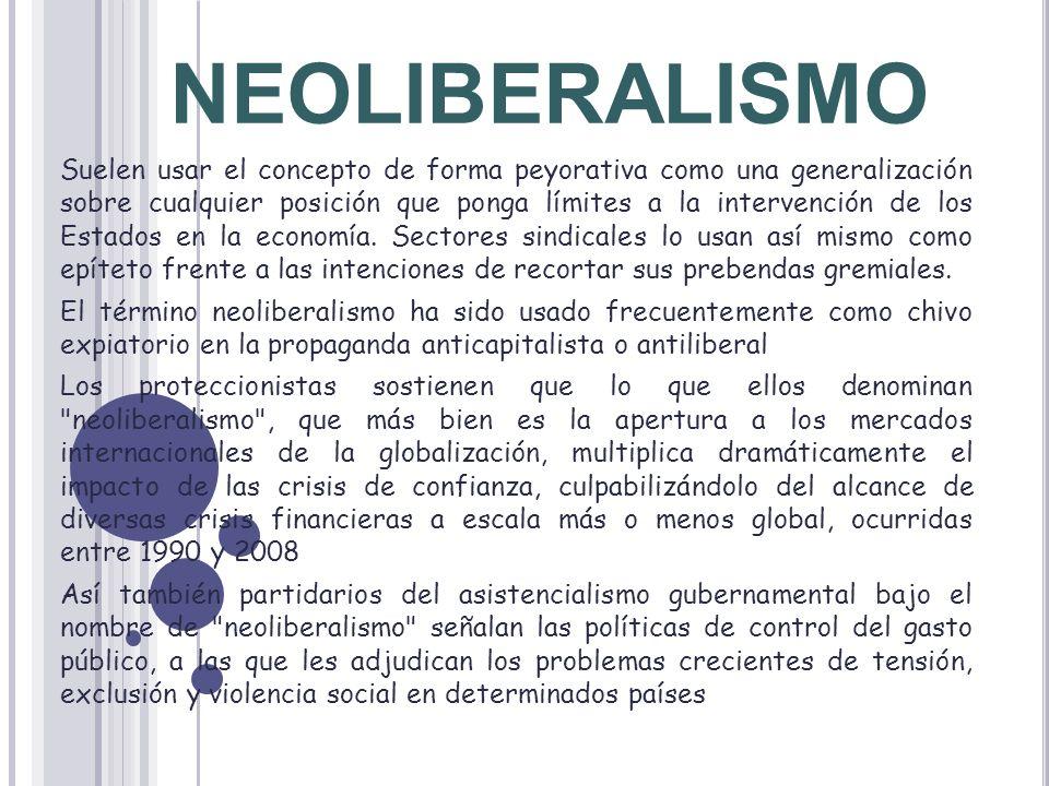 Uso crítico del neoliberalismo