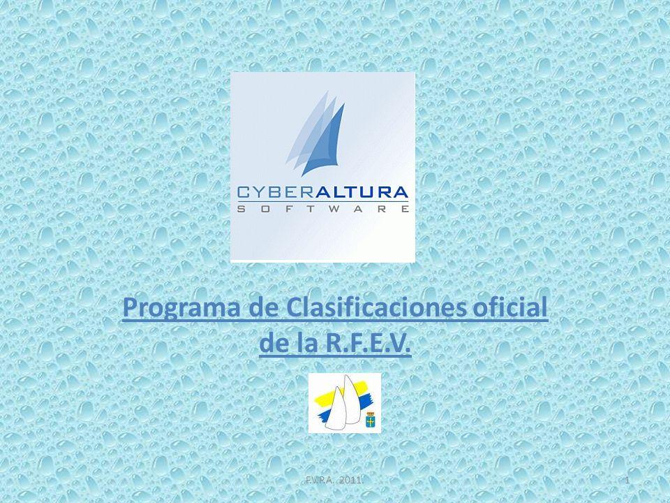 Programa de Clasificaciones oficial de la R.F.E.V.