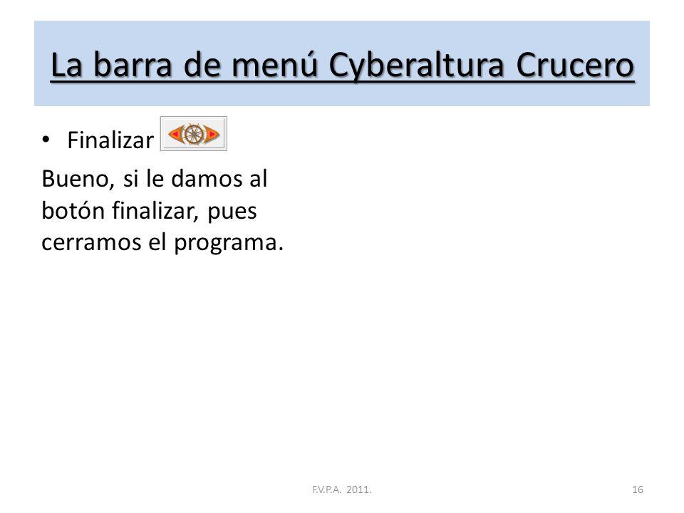 La barra de menú Cyberaltura Crucero