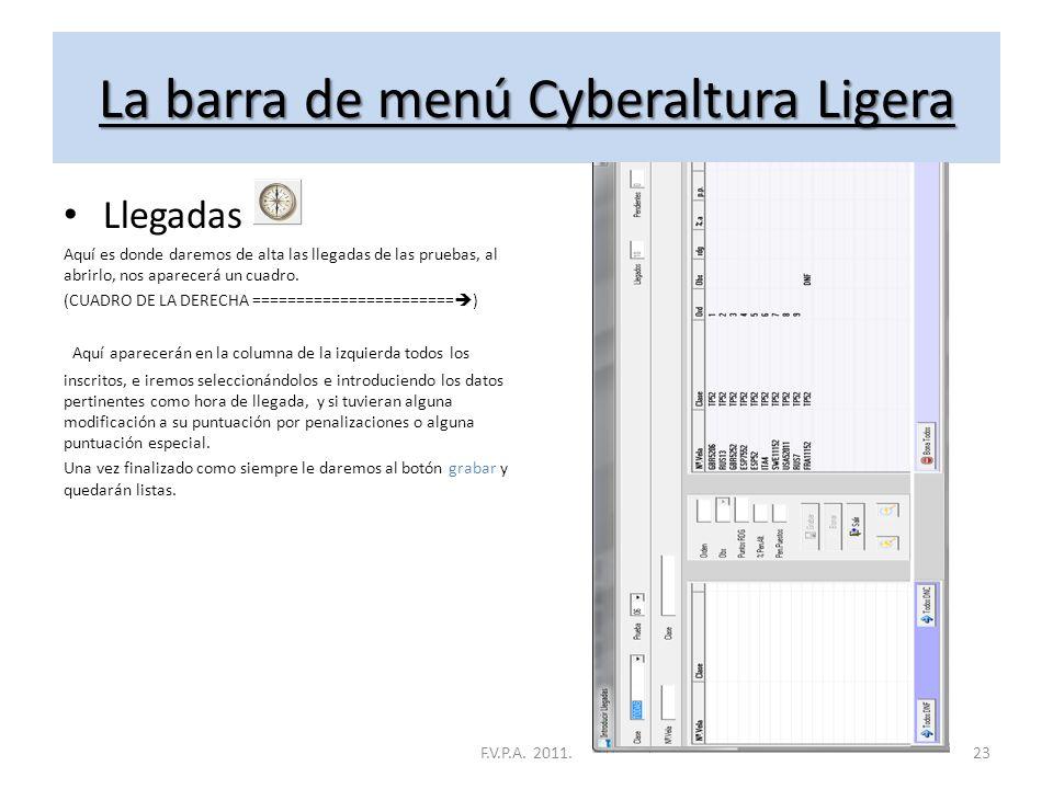 La barra de menú Cyberaltura Ligera