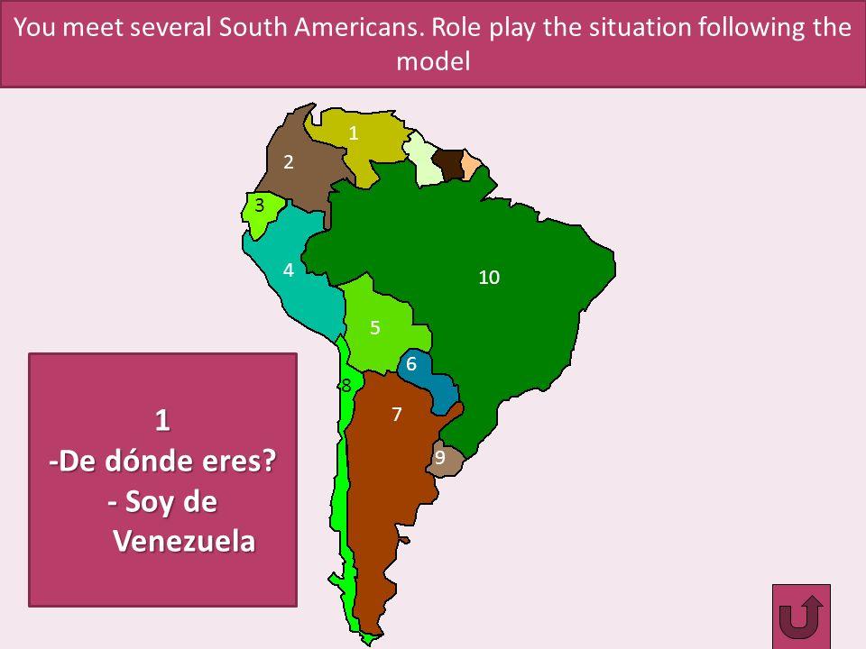 1 -De dónde eres - Soy de Venezuela
