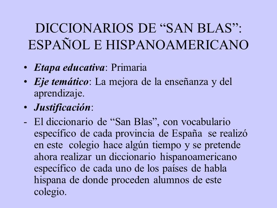 DICCIONARIOS DE SAN BLAS : ESPAÑOL E HISPANOAMERICANO